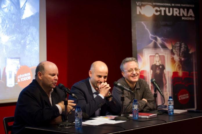 De izquierda a derecha, el productor del Festival, José Luis Alemán, en el centro el director, Sergio Molina y a continuación el coordinador de actividades paralelas, Antonio Busquets.