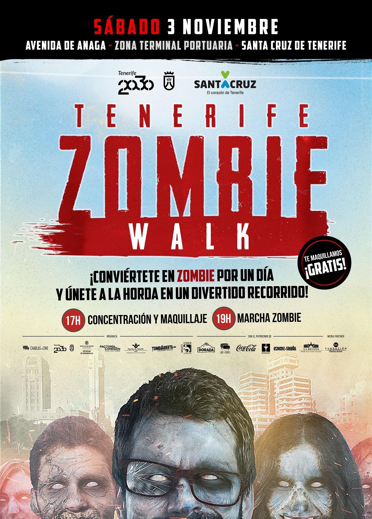Cartel de la Tenerife Zombie Walk 2018.