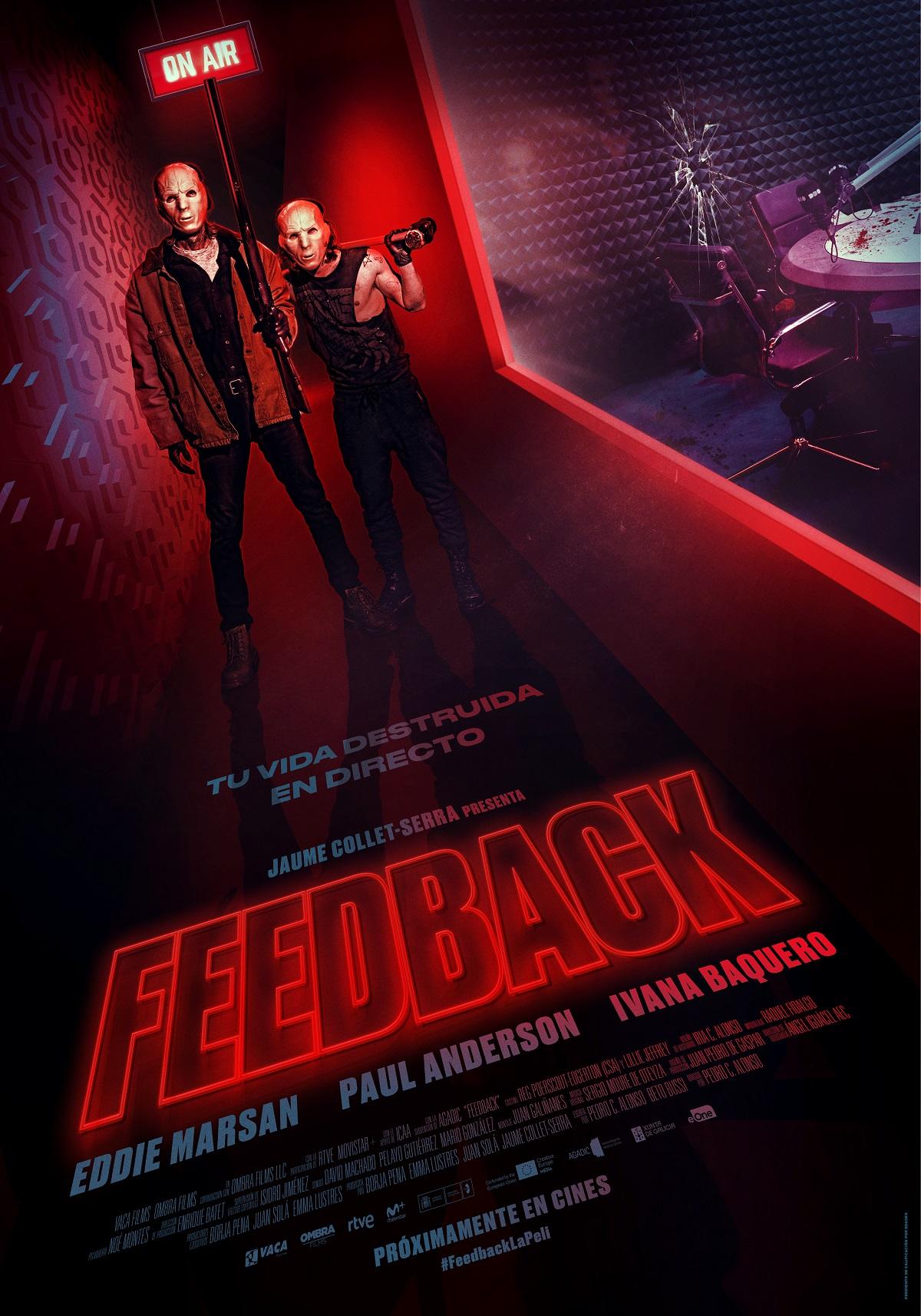 Cartel de 'Feedback'. Entertainment One Films Spain