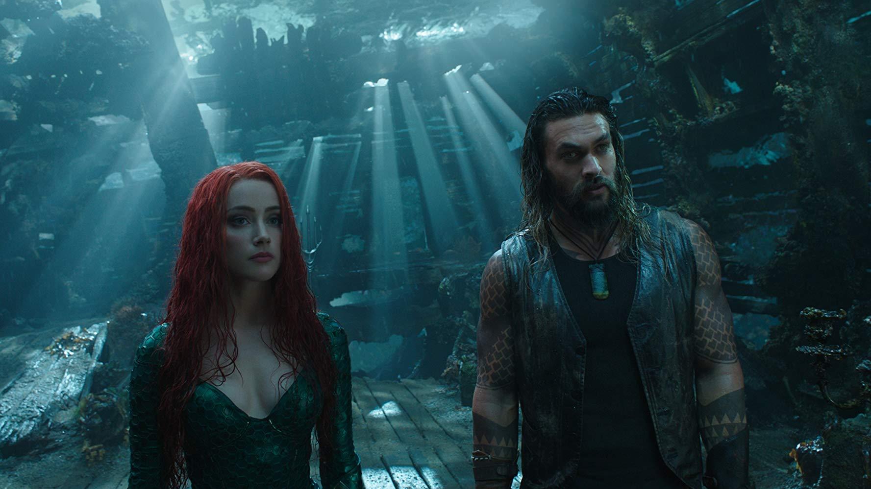 Amber Heard y Jason Momoa protagonizan 'Aquaman'.