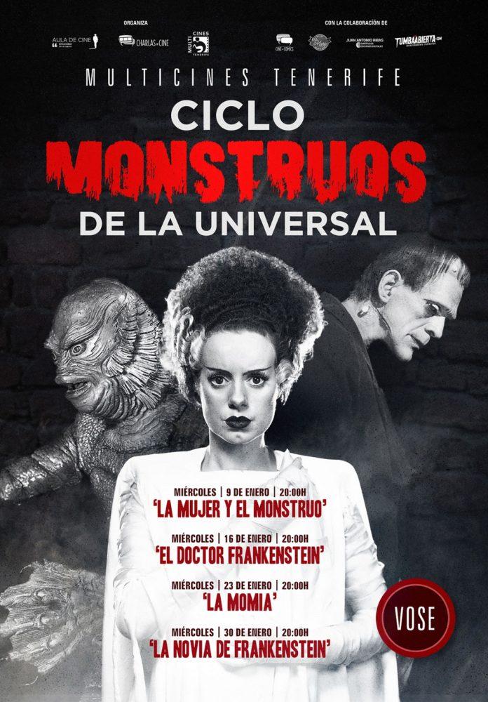 Póster ciclo 'Monstruos de la Universal' del Aula de Cine de la ULL.