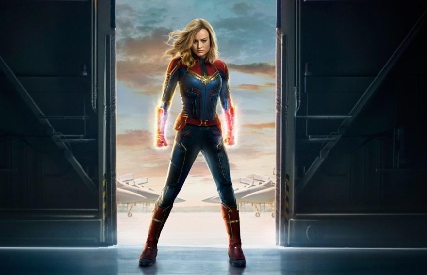 Detalle del cartel de 'Capitana Marvel'.