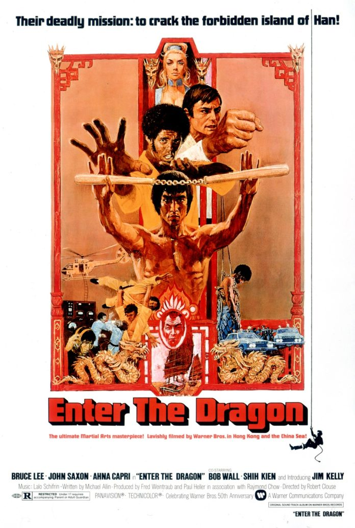Póster original de 'Enter the Dragon' ('Operación Dragón').