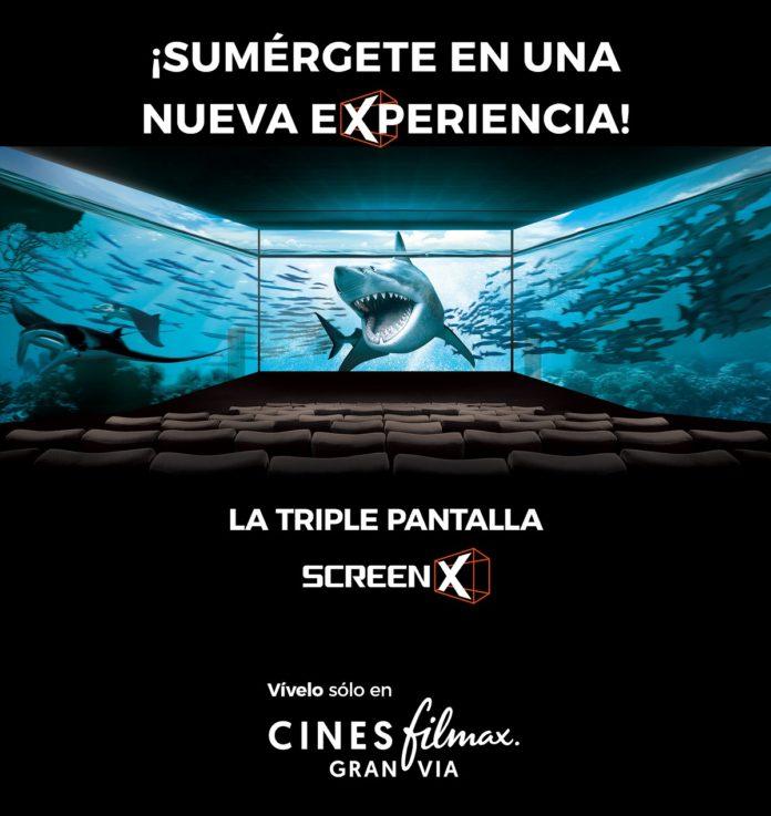 Los Cines Filmax Gran Via inauguran la triple pantalla Screen X.