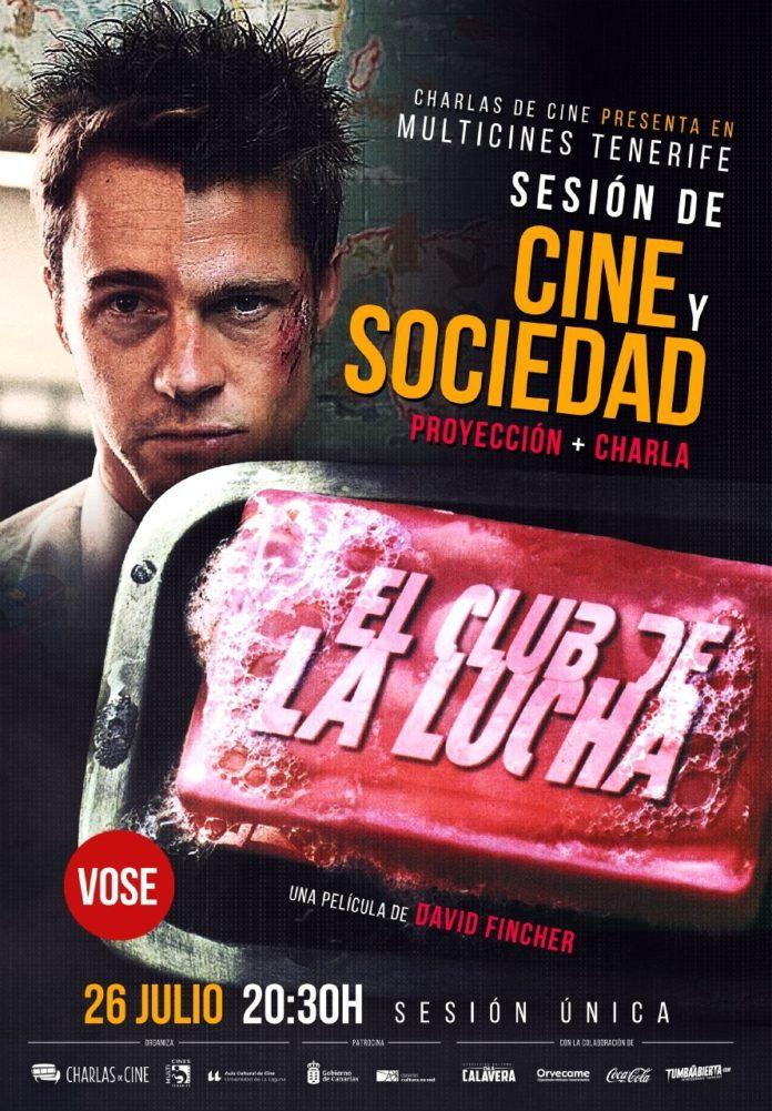 Cartel del Foro Cine y Sociedad de Charlas de Cine.