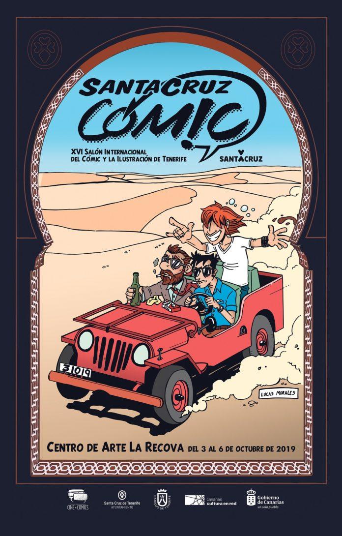 Segundo cartel de la XVI edición del Salón Internacional del Cómic y la Ilustración de Tenerife, diseñado por Lucas Morales.