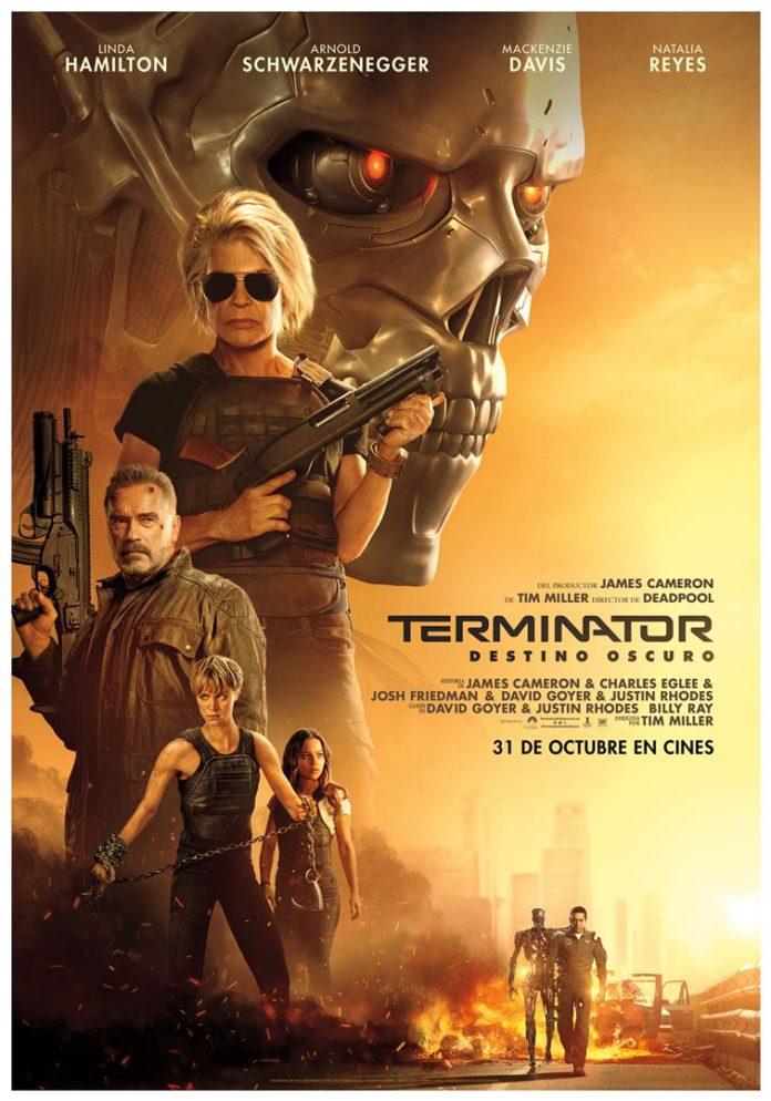 Póster 'Terminator: Destino oscuro'.