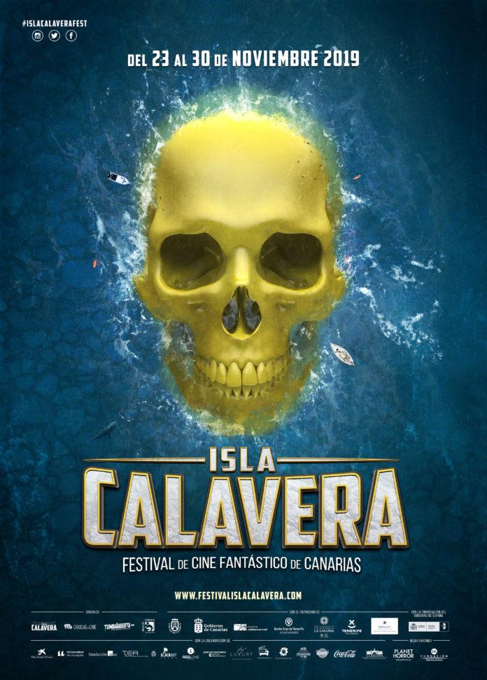 Cartel del Festival de Cine Fantástico de Canarias Isla Calavera 2019.