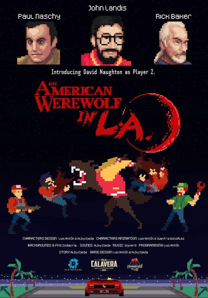 Cartel del videojuego 'An american werewolf in L.A.'.