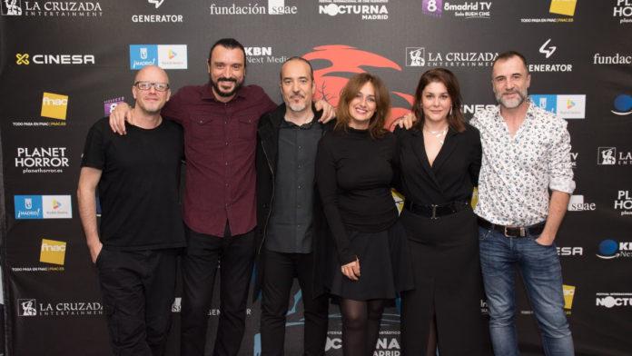 En la imagen, el equipo de la película AMIGO, momentos antes de la proyección en Nocturna Madrid. | Foto: Aída Cordero