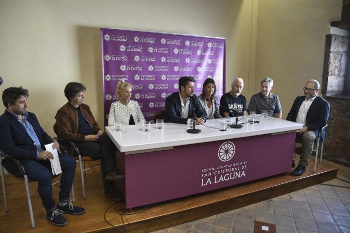 Rueda de prensa de presentación del palmarés celebrada en el Ayuntamiento de La Laguna.