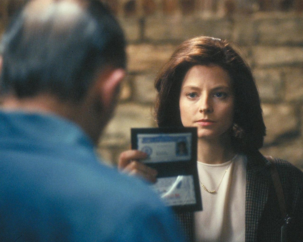 Jodie Foster como Clarice Starling en El silencio de los corderos (1991).