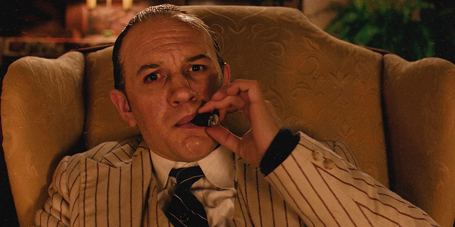 El actor británico Tom Hardy caracterizado como Al Capone para el nuevo biopic de Josh Tank.