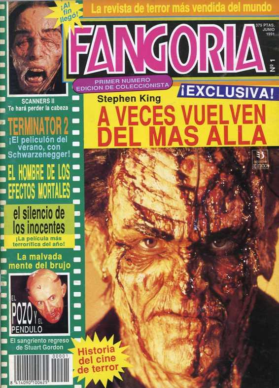 El primer número de la edición española de Fangoria llegaba a los kioscos en junio de 1991.