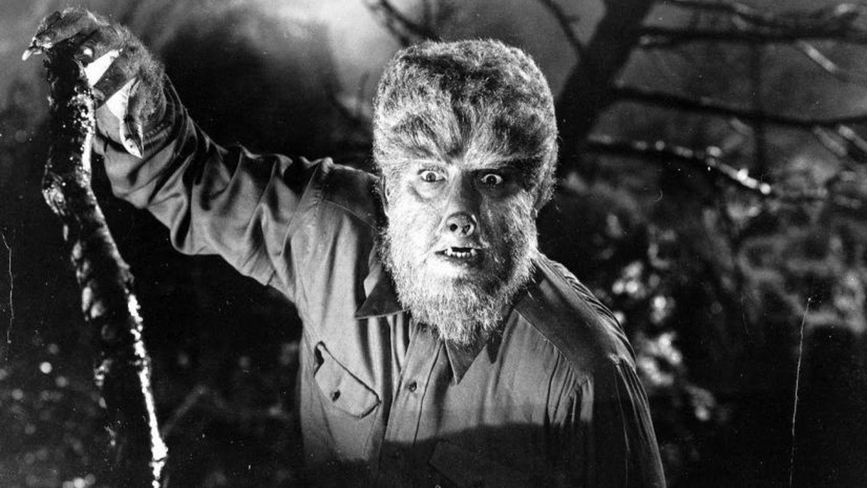 Lon Chaney Jr. como el hombre lobo.