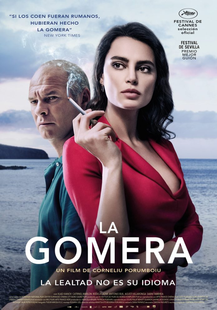 Póster del thriller La Gomera (The Whistlers).