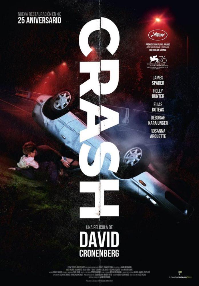 Crash, de David Cronenberg. Póster 25 aniversario.