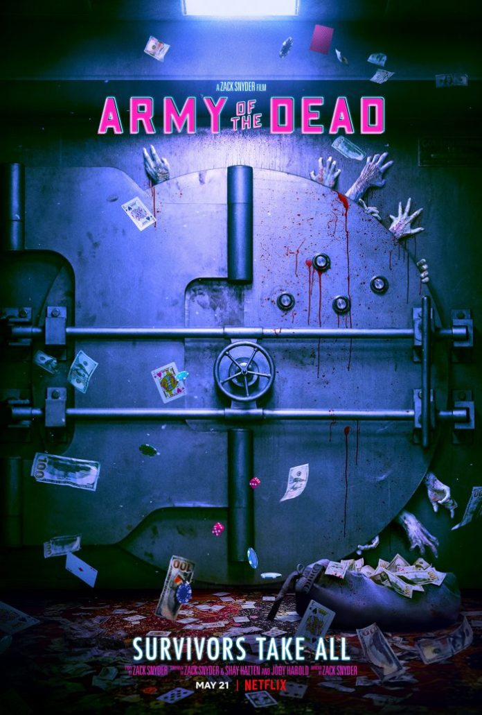 Teaser poster de Army of the dead, de Zack Snyder.