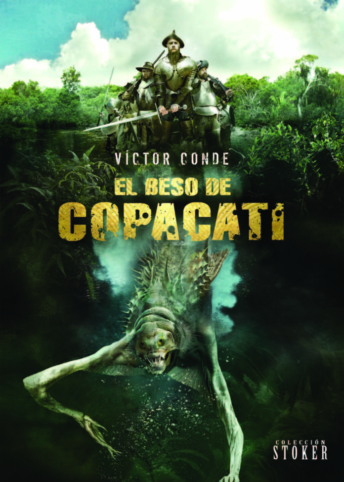 Portada 'El beso de Copacati', de Víctor Conde. Dolmen Editorial.