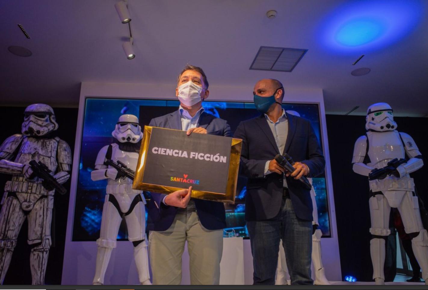 Acto de presentación del tema escogido para el Carnaval de Santa Cruz de Tenerife 2022: la ciencia ficción.