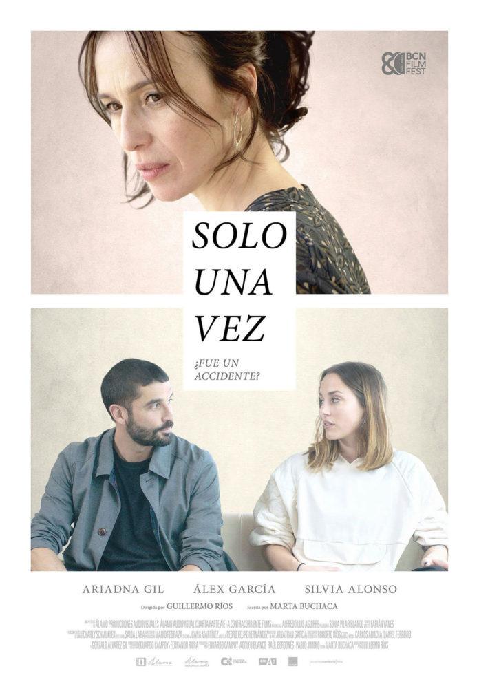 Póster Solo una vez, de Guillermo Ríos.