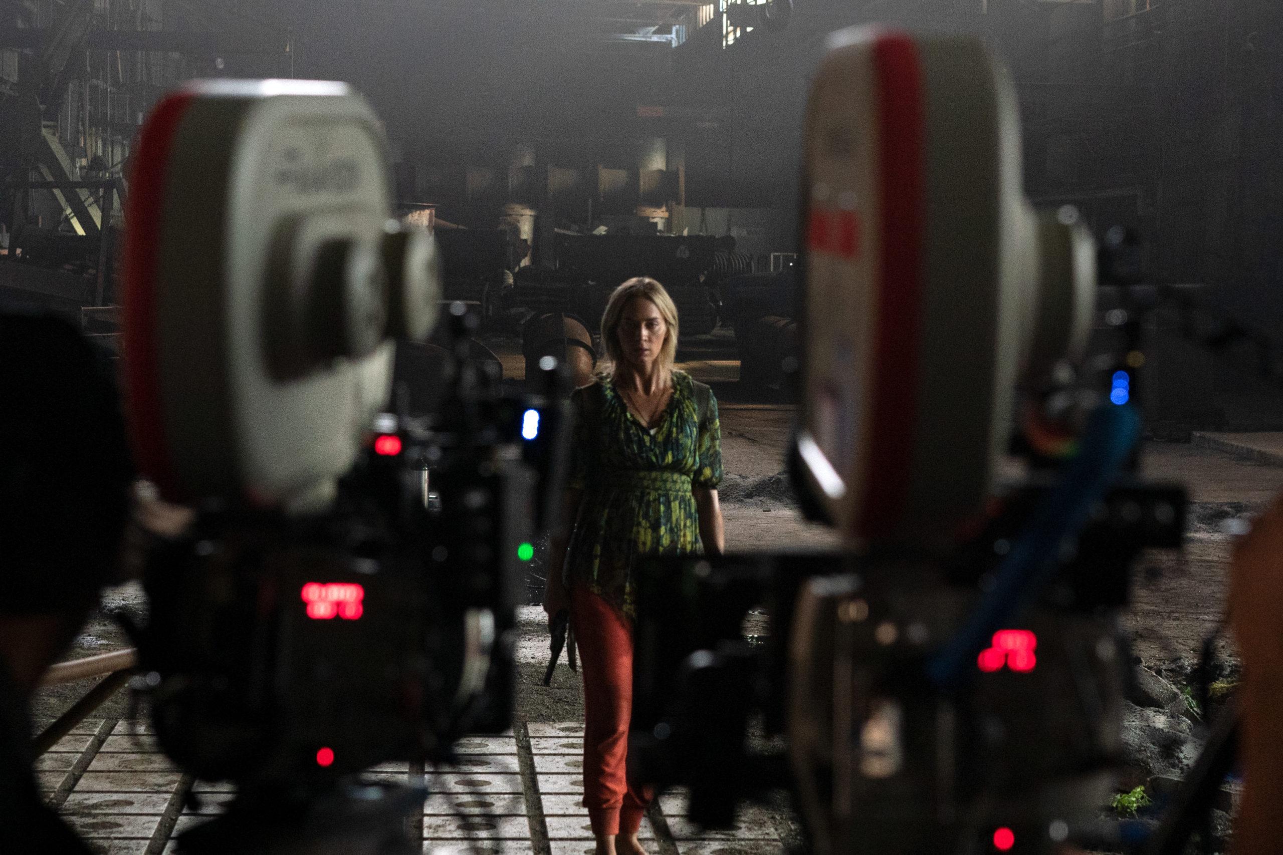 Emily Blunt en el set de Un lugar tranquilo 2.
