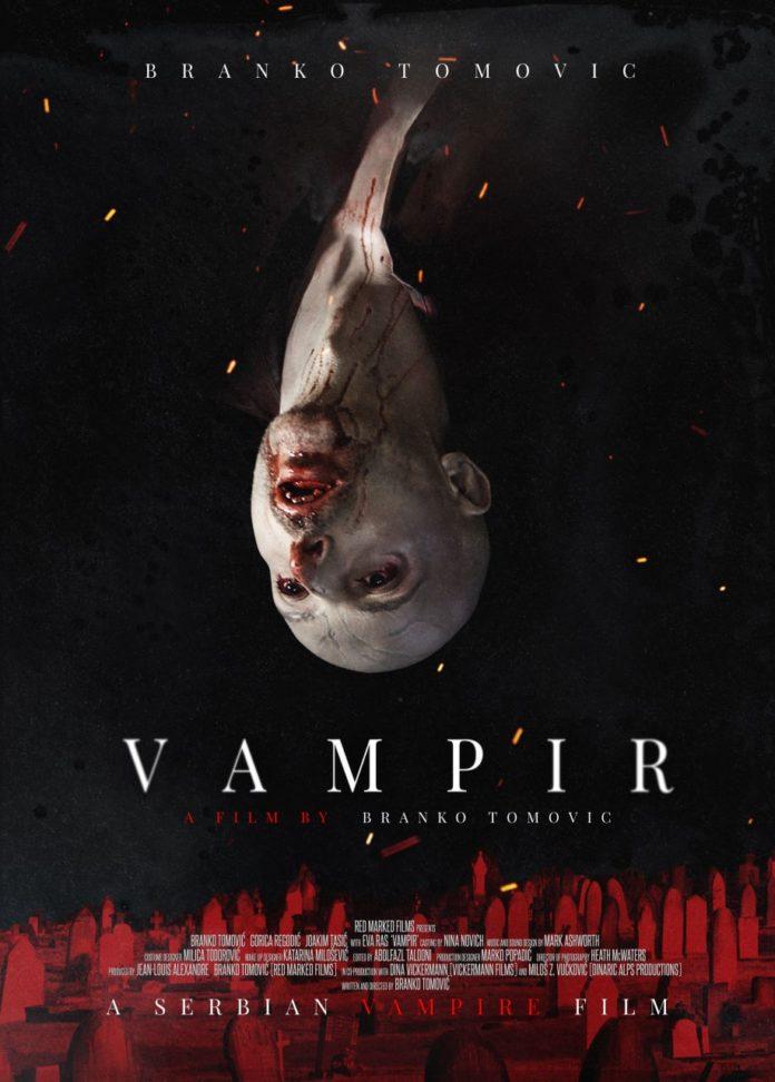Póster internacional de 'Vampir', obra del artista visual y cartelista de cine canario Daniel Fumero.