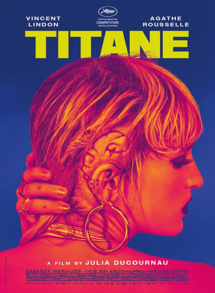Cartel de 'Titane', segundo largometraje de la cineasta francesa Julia Ducournau.