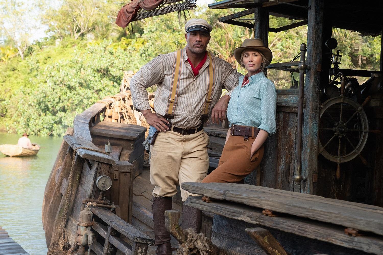 Dwayne Johnson y Emily Blunt en Jungle Cruise, de Jaume Collet-Serra.