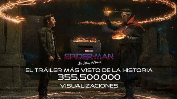 """El primer tráiler oficial de """"SPIDER-MAN: No Way Home"""" bate todos los récords."""