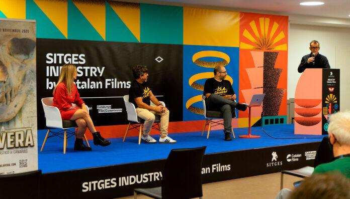 Presentación del Festival de Cine Fantástico de Canarias Isla Calavera 2021 en el Festival de Sitges.